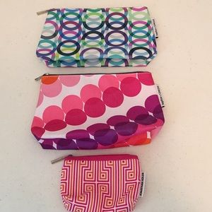 Bundle of three Clinique cosmetic bags